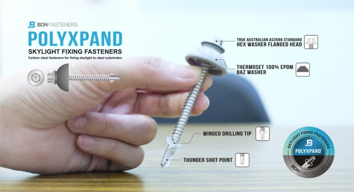 POLYXPAND-SKYLIGHT FIXING FASTENERS